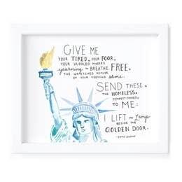 Lady Liberty Print - Framed