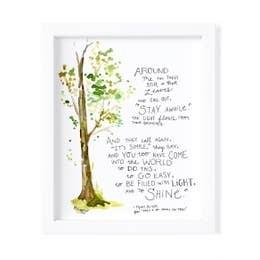 Mary Oliver Print -Framed