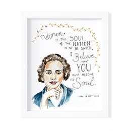 Coretta Scott King Print Framed