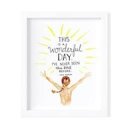Wonderful Day - Framed