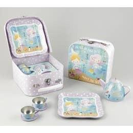 Mermaid Tin Tea Set in Case