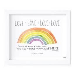 Love is Love Print Framed