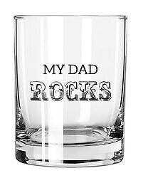 My Dad Rocks Glass