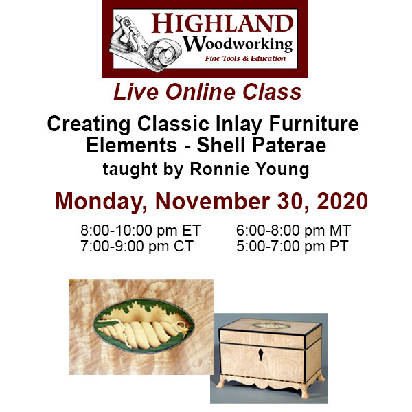Creating Classic Inlay Furniture Elements - Shell Paterae