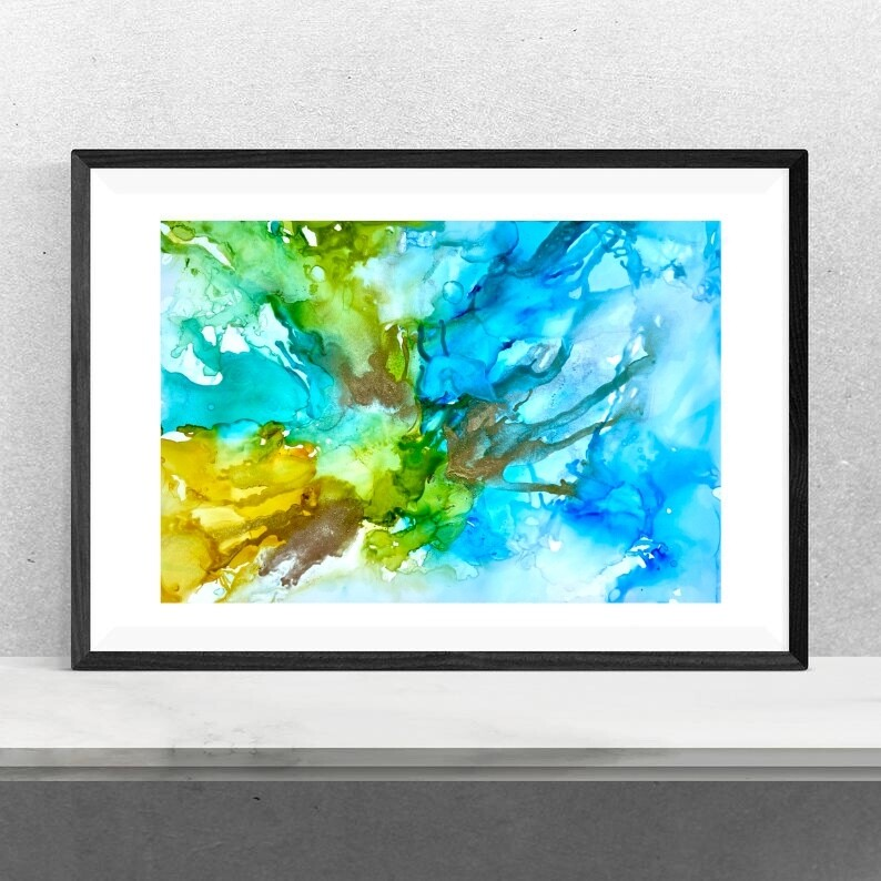 Original Alcohol Ink Painting - Abstract Art