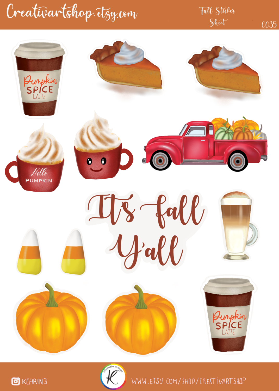 Seasonal Stickers- Fall Sticker Sheet