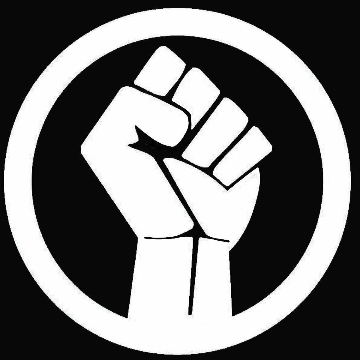 Black Lives Matter Decal/Fist BLM Vinyl sticker in White