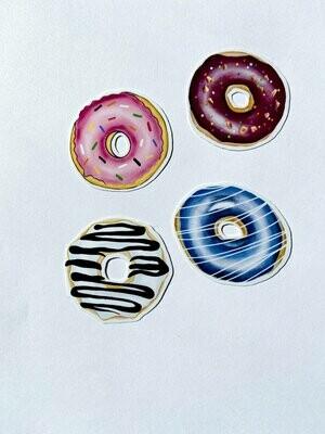 Donut Stickers Die -Cut Sticker Pack