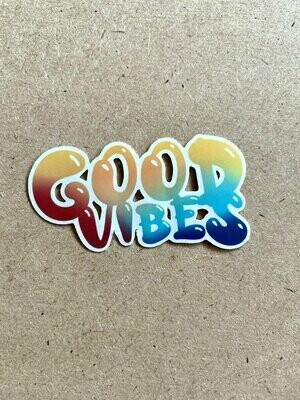 Good Vibes sticker - Matte and Glossy Vinyl Sticker