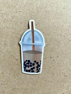Boba tea sticker, Bubble tea sticker- Glossy Vinyl Sticker