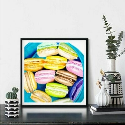 Food Watercolor Painting - Kitchen Art, Macarons, Home Decor