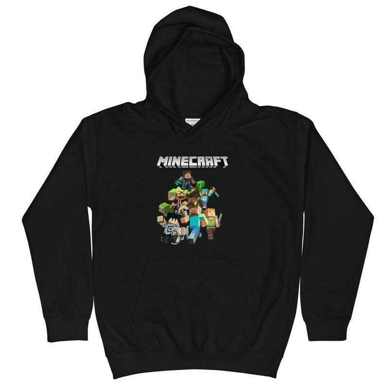 Kids Minecraft Hoodie Pullover Sweatshirt