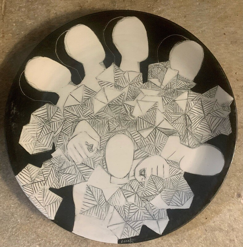 """In the Mayhem 12"""" Ceramic Plate"""