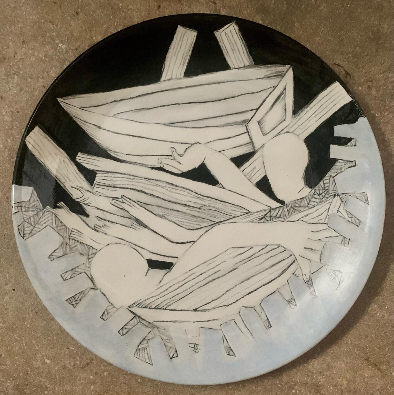 "The Rescue, 12"" Ceramic Plate"