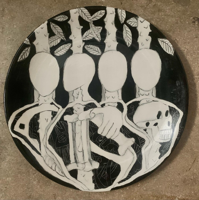"The Saplings, 12"" Ceramic Plate"
