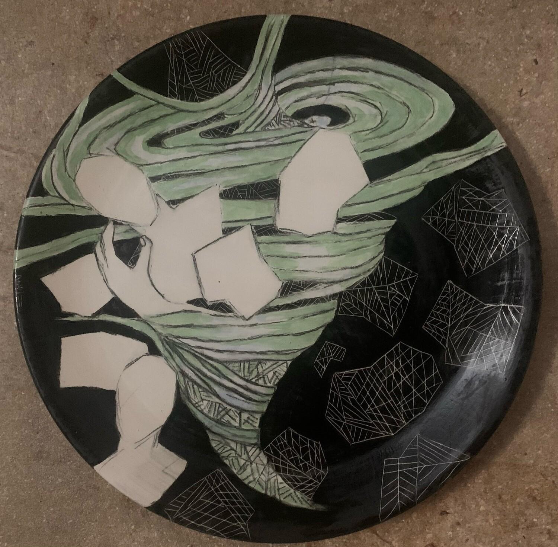 """Tornado Alley, 12"""" Ceramic Plate"""