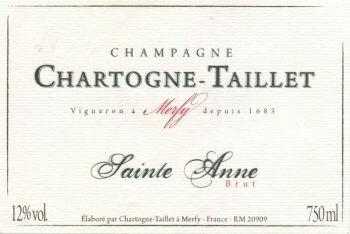 Chartogne-Taillet, Champagne Brut Cuvée Sainte Anne NV
