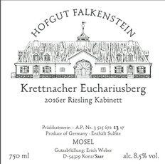 Hofgut Falkenstein 2019 Krettnacher Euchariusberg Riesling Kabinett Kugel Peter AP-12