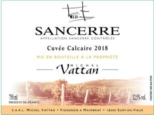 Domaine Michel Vattan, Sancerre Cuvée Calcaire Blanc 2019