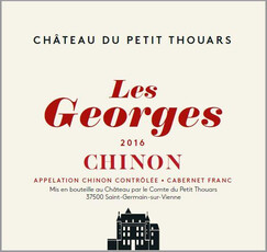 """Ch. Petit Thouars Chinon """"Les Georges"""" Rouge 2019"""
