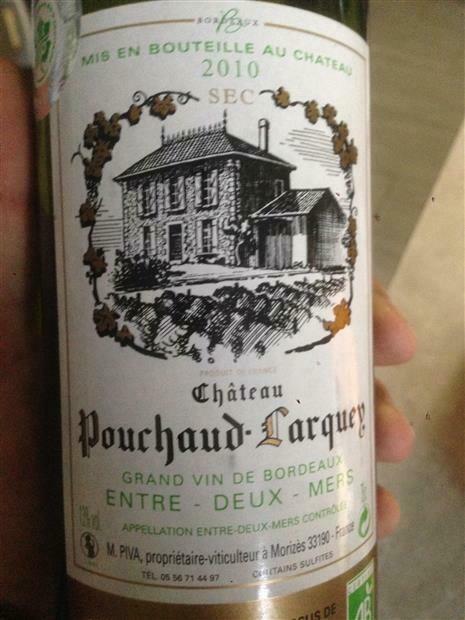 Pouchaud Larquey Entre Deux Mers Bordeaux Blanc 2016