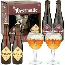 Westmalle Gift Pack w/ Glass 4 x 11.2oz