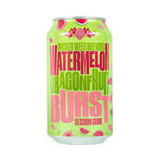 Wicked Weed Watermelon Dragonfruit Burst Sour Ale 6 x 12oz