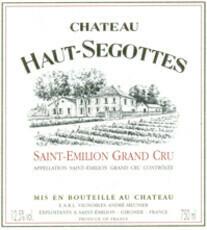 Château Haut-Ségottes Saint Émilion Grand Cru 2016