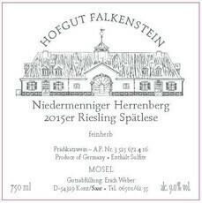 Hofgut Falkenstein Niedermenniger-Herrenberg Riesling Spätlese Feinherb 2016