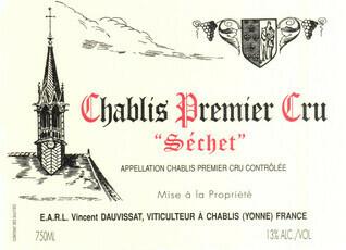 Domaine Vincent Dauvissat Chablis 1er Cru Séchet 2015