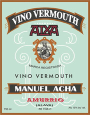 Destilerías Acha Vino Vermouth Rojo