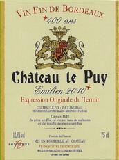 """Chateau Le Puy """"Emilien"""" 2016"""