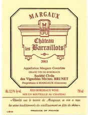 Chateau les Barraillots Margaux 2018