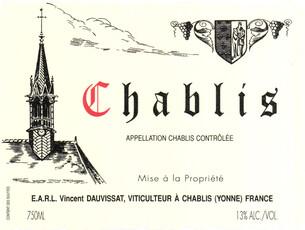 Domaine Vincent Dauvissat Chablis 2018