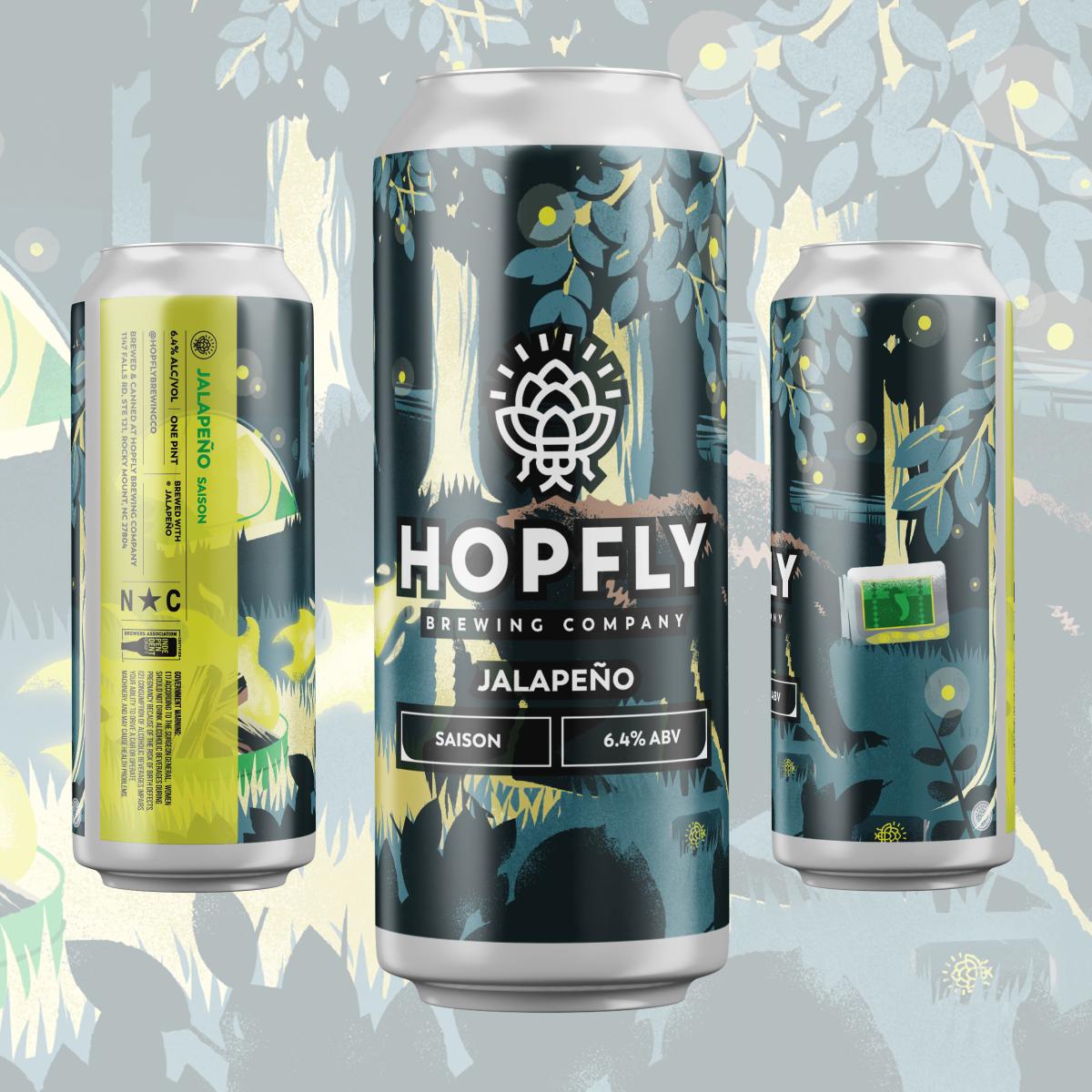 Hopfly Jalepeno Saison 4pk