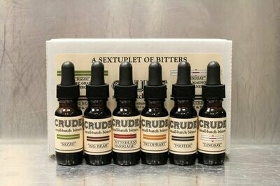 Crude Bitters Sampler Set 6 x 0.5oz