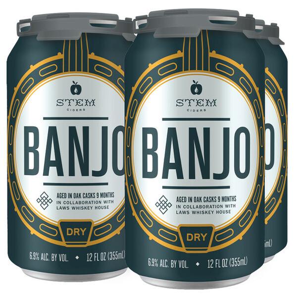 Stem Banjo Bourbon Barrel Aged Cider 4 x 12oz