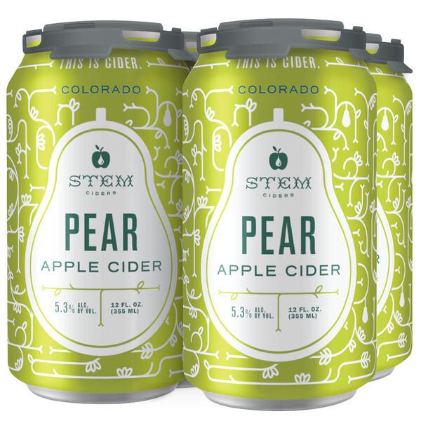 Stem Pear Apple Cider 4 x 12oz