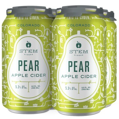 Stem Pear Apple Cider 4 x 12oz