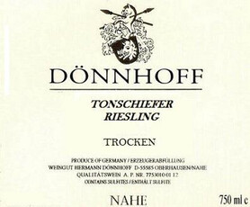 Donnhoff Tonschiefer Riesling Trocken 2018