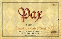 Pax Syrah Castello-Knight Ranch, Russian River Valley 2015