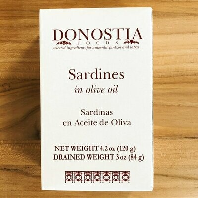 Sardines in Olive Oil 4.5oz Tin