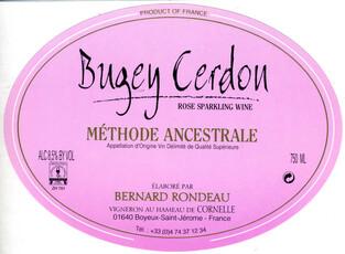 Rondeau, Bugey Cerdon Méthode Ancestrale Rosé NV
