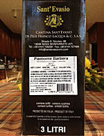Sant Evasio Barbera 3L Box