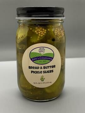 Bread and Butter Pickles 8oz Julz's Creations
