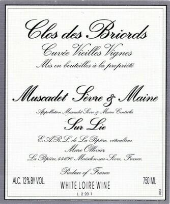 2019 Domaine de la Pepiere Muscadet Sevre-et-Maine Sur Lie Clos des Briords
