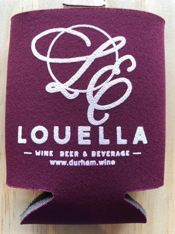 LouElla Logo Burgundy Koozie