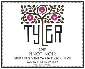 Tyler Pinot Noir Dierberg Block 5 2015