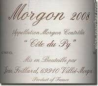 Jean Foillard Morgon Cote du Py 2019