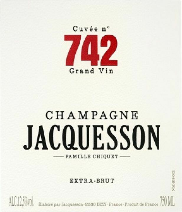 """Jacquesson """"Cuvee 742"""" Extra Brut Champagne"""